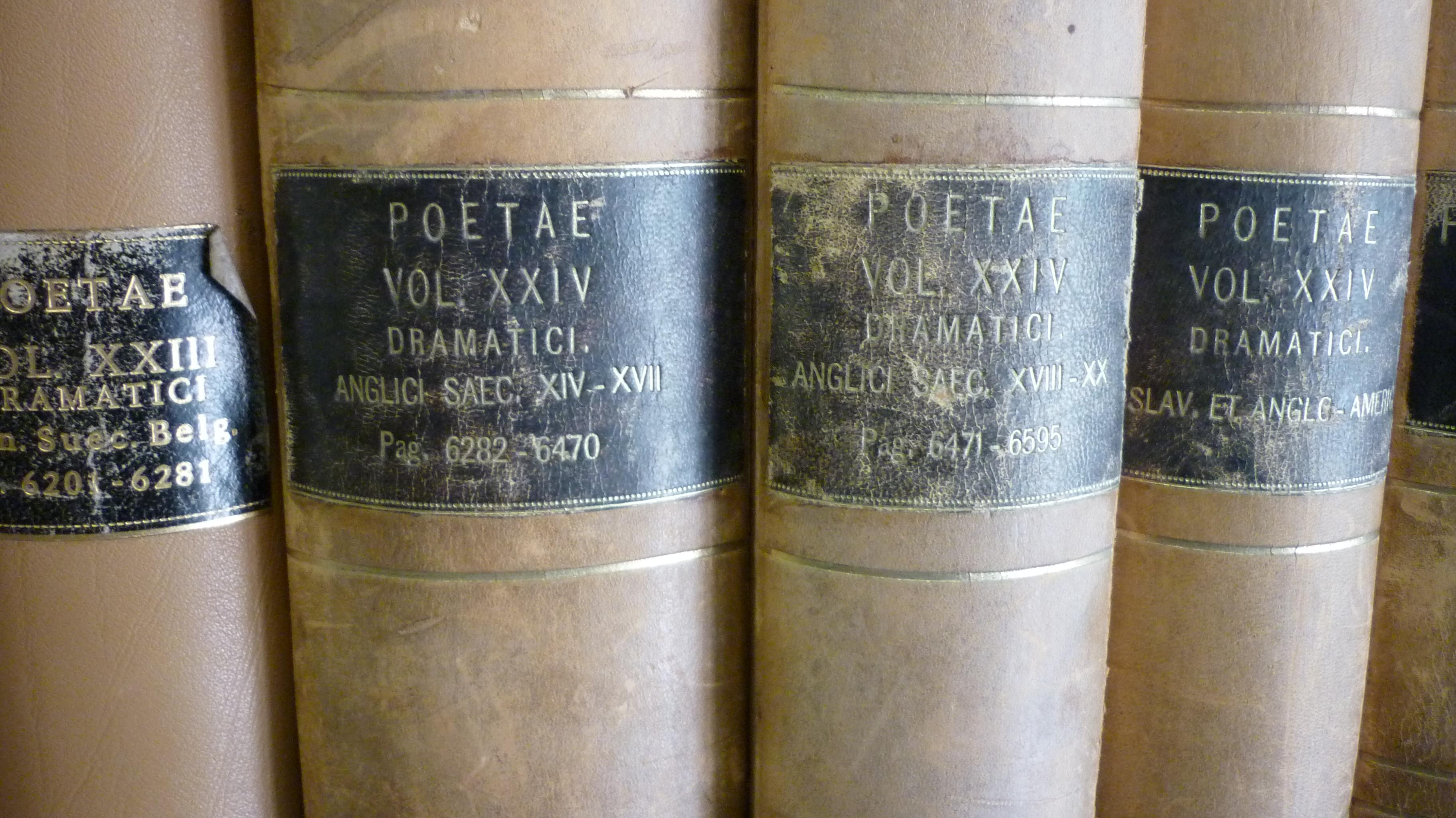Volumes of the Classified Catalogue